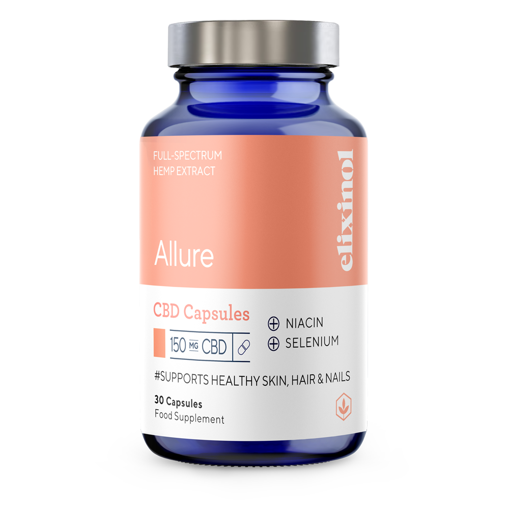 Picture of Allure CBD Blended Capsules to support Healthy Skin, Hair & Nails