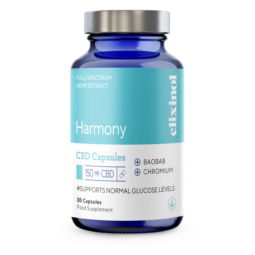 Picture of Harmony CBD Blended Capsules to support normal Glucose Levels